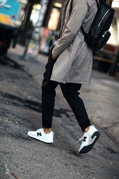 New York City Spring Street Style   Talun Zeitoun   Camel Trench   New Balance White Sneakers   Menswear   Men's Fashion Looks