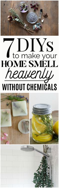 7 All-Natural Ways to Make Your Home Smell Amazing | 7 DIYs you can make to freshen the air of your home and make your home smell heavenly without any chemicals! These non-toxic air fresheners are fun and simple to make! #DIY #allnatural #naturalremedies