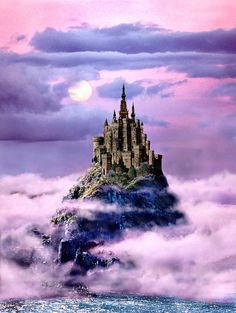 Max's Mystery Kingdom...  ©MaxSharam Mysterious Places, Debut Album, Castles, Mystery, Illustration Art, Clouds, Fantasy, Mountains, City