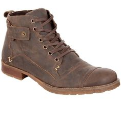 Dune Simon Leather Boots, Dark brown