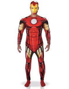 Disfraz Iron Man deluxe Los Vengadores™ adulto: Este disfraz de Iron Man para hombre tiene licencia oficialLos Vengadores™.Incluye traje y semi máscara.El traje representa el uniforme de Iron Man. La parte trasera es roja. Tiene...