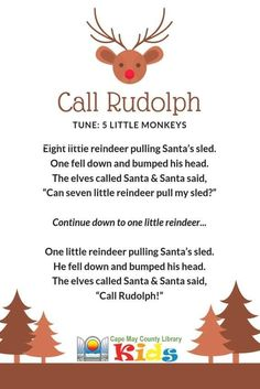 A great rhyme for storytime! Perfect for winter, snow, and holiday themes! A great rhyme for storytime! Preschool Christmas Songs, Christmas Poems, Christmas Program, Christmas Concert, Preschool Music, Kids Christmas, Preschool Activities, Christmas Activities, Fingerplays For Preschoolers