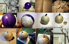 Papier mache ornaments