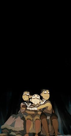 Katara: Does anyone else get the feeling that we're being watched? Sokka: Please, we're all alone out here. Aang: except for them. Sokka: Right, except for them.
