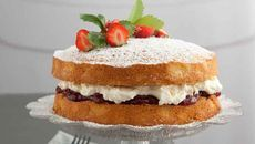 Master a classic with our Victoria Sponge recipe. Victoria Sponge Recipe, Custard Filling, Jam On, Cake Tins, Christmas Desserts, Real Food Recipes, Icing, Cheesecake, Strawberry