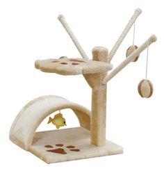 IRIS 2-Tier Cat Tree Small Cat Furniture Cat Scratching Post Beige | eBay