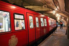 Coche especial para la celebración 95 aniversario Bilbao, Metro Subway, U Bahn, Madrid, Transportation, Tourism, Public, Europe, Train