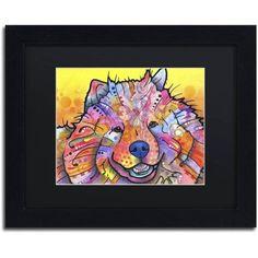 Trademark Fine Art Benzi Canvas Art by Dean Russo, Black Matte, Black Frame, Size: 16 x 20