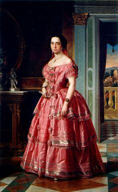 """""""Portrait of a Lady"""" by Ángel María Cortellini Hernández (1855)"""