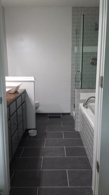 Galvano Charcoal Glazed Porcelain Indoor/Outdoor Floor Tile (Common: 12-in x 24-in; Actual: 11.85-in x 23.85-in) at Lowes.com