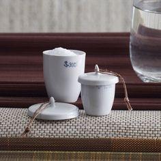 Porcelain Crucible Salt & Pepper Cellar Set $16