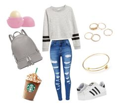 First day of school by jules-thequeen on Polyvore featuring polyvore, fashion, style, WithChic, adidas, Michael Kors, Eos and clothing