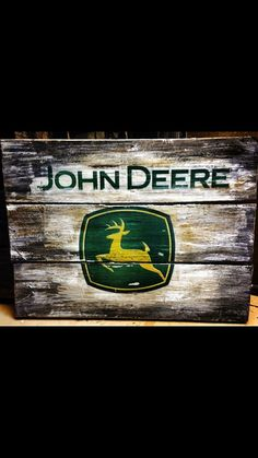 John deere pallet sign pallet wood plaque by CustomWoodSigns1