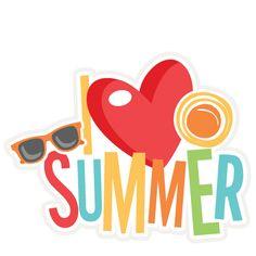 I Love Summer Title SVG scrapbook cut file cute clipart files for silhouette cricut pazzles free svgs free svg cuts cute cut files