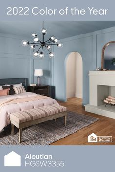 Best Blue Paint Colors, Paint Colors For Home, House Colors, Blue Kitchen Interior, Home Organization Hacks, Living Room Flooring, Blue Rooms, Guest Bedrooms, Color Of The Year