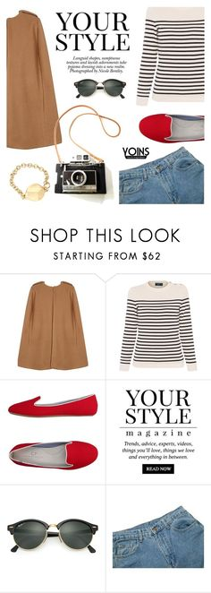 """""""Yoins 35"""" by millilolly ❤ liked on Polyvore featuring Saint James, Charles Philip Shanghai, Pussycat, Nicole, Ray-Ban, yoins, yoinscollection and loveyoins"""