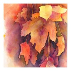McKenna Woolley ART - 'Warm Autumn' watercolor on arches cold press 140lb paper, 9x9in.
