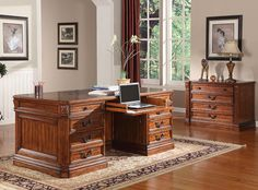 Granada 3Pc Executive Desk from Parker House