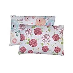 """Perfect for your Baby and Nursery Toddler Pillowcase, 2 Pack- Super Soft Material, Toddler Pillowcase 14×19, Flowers,Toddler Pillowcase, 2 Pack- Super Soft Material, Toddler Pillowcase 14x19, Flowers, PREMIUM QUALITY SUPER SOFT 2 PACK JERSEY PILLOWCASE: Breathable and Durable.Machine Washable PERFECTLY FIT: Made specifically 14""""x19"""" and 13""""x18"""" pillow. Fits any brand of pillow size 14""""X19"""" and ..."""