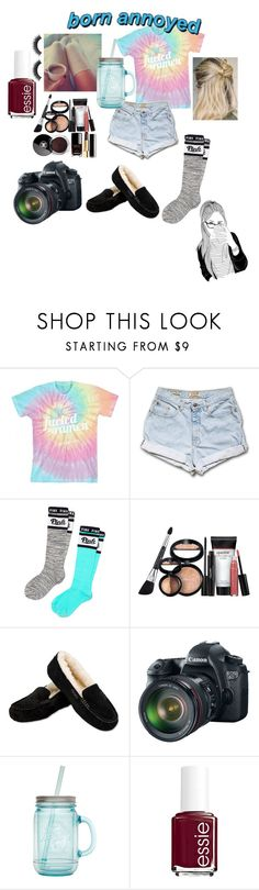 """Happy New Years Eve! 12/31/15"" by mikey-styles-howell ❤ liked on Polyvore featuring Victoria's Secret PINK, Laura Geller, UGG Australia, Eos, ALADDIN, Essie and Chanel"