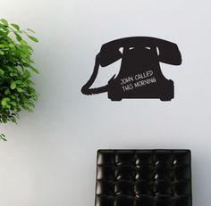Chalkboard wall sticker telephone blackboard decal