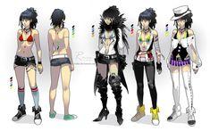 Raven - costume designs by *einlee
