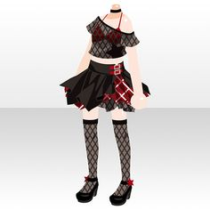 Model Outfits, Girl Outfits, Fashion Outfits, Cartoon Outfits, Anime Outfits, Anime Uniform, Anime Dress, Cocoppa Play, Star Girl