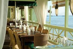 Restaurant at Little Good Harbour Hotel, Barbados Barbados Resorts, Hotels And Resorts, Restaurant Am Wasser, British Colonial Style, Venice Travel, Vacation Trips, Greece Vacation, Vacation Rentals, Vacation Spots