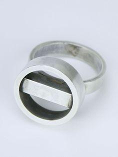 Georg Jensen silver hoop and bar ring - design number 122
