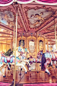 Carrousel, italy, florence, tuscany,  circus art, fine art print, county fair, nursery wall art, child's room, girly, pinky