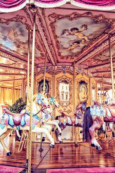 Carrousel, italy, florence, tuscany,  circus art, fine art print, county fair, nursery wall art, child's room, girly, pinky
