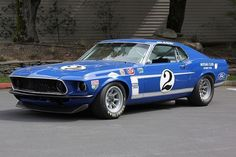1969 Ford Mustang fastback Boss 302 Trans Am race car