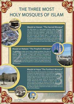 The 3 Most Holy Masjids In Islam.