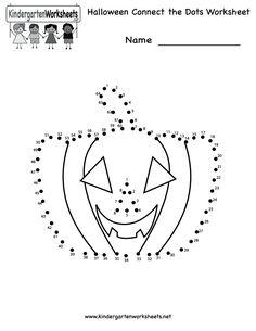 best kindergarten halloween worksheets images  halloween  halloween connect the dots worksheet  free kindergarten holiday worksheet  for kids