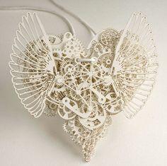clockwork, design, gears, graphic, heart, hearts