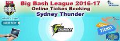 Big Bash League 2016-17 Tickets http://www.cricwindow.com/big-bash-league-2016-2017/sydney-thunder-tickets.html