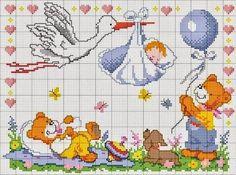 Schemi punto croce per bambini e neonati