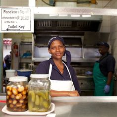 Calky's by Eleri Griffiths Calky's fish and chip cafe, Boulders Bay. Fish And Chips, Single Image, South Africa, Smile