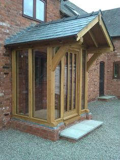 Luckier adjusted wrap around porch design Our site Porch Uk, Front Door Porch, Cottage Porch, Porch Doors, Front Porch Design, Porch Entry, House With Porch, House Front, Oak Front Door