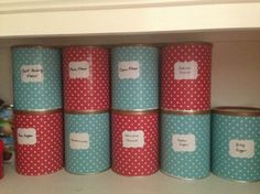Recycled Baby Formula Tin Storage Idea //Cooking For Busy Mums