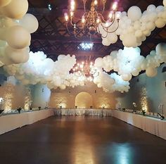 Party decorations balloons ceilings 17 Ideas - New Deko Sites Balloon Decorations Party, Balloon Garland, Wedding Reception Decorations, 15th Birthday, Birthday Parties, Balloons Galore, Decoration Evenementielle, Quinceanera Party, Wedding Balloons