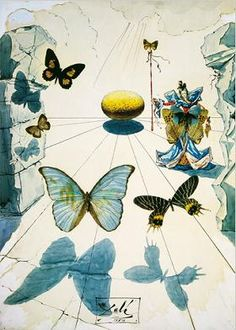 Salvador Dali BUTTERFLIES painting is shipped worldwide,including stretched canvas and framed art.This Salvador Dali BUTTERFLIES painting is available at custom size. Salvador Dali Gemälde, Salvador Dali Paintings, Art Amour, Ouvrages D'art, Butterfly Painting, Butterfly Print, Art Moderne, Wassily Kandinsky, Surreal Art