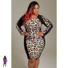 New Plus Size Bodycon Silouette with Black Sides and Brown and Black Animal Print Middle http://www.chicandcurvy.com/bodycons/product/9080-new-plus-size-bodycon-silhouette-with-black-sides-and-brown-and-black-animal-print-middle1x-2x-3x Model: Janna Plus Model MUA: Make Me Blush - Makeup By Jillian Bianca Hair: Hair by Ashelee Photography: Smash Photo Studio