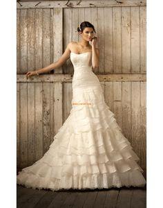 Traîne moyenne Printemps 2014 Col en cœur Robes de mariée 2014