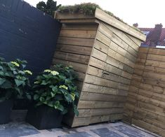 Tool Shed With Green Roof