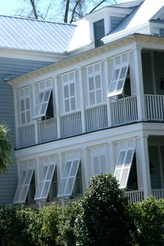 Bahama shutters on porch