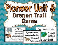 Do you love the game Oregon Trail? This unit includes a whole class version of the game!This is a Problem Based Learning Unit all about the pioneers of our great nation. I created this unit for my second graders, but you could use it for older children too.