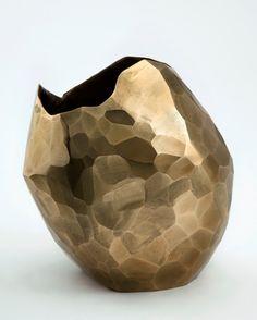 David Wiseman   bronze facet vase