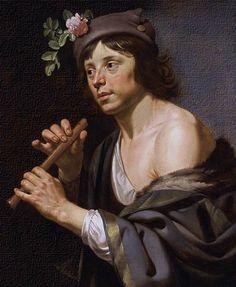 Retrato caravallista holandés por Van Bijlert.