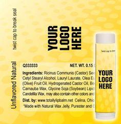TLB1300 - Full Color Label Lip Balm Template Designs